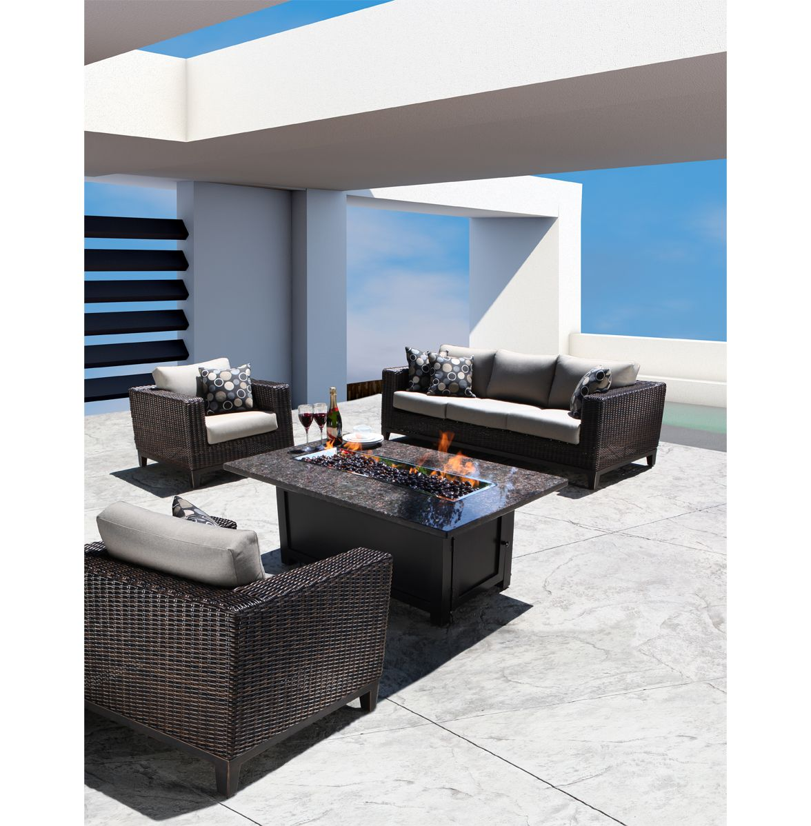 columbia collection luxury outdoor wicker patio furniture