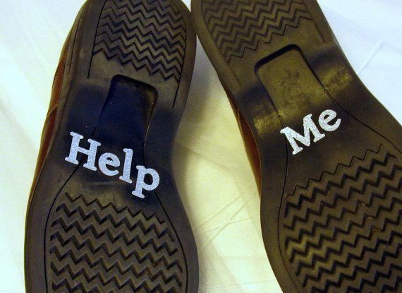 Scarpe Sposo Help Me.Sposa Scarpa Adesivi Sposo Aiutami Argento Brillavano