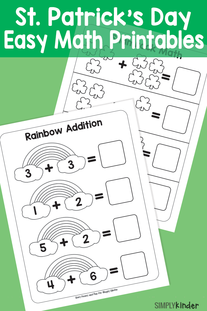 Simple St. Patricks Day Math Printables | Juego