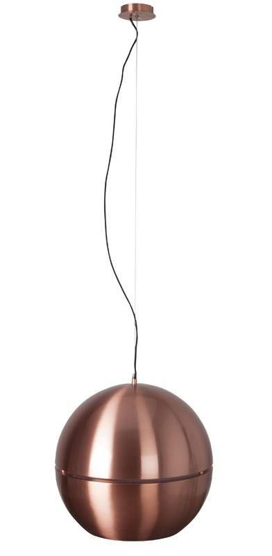Zuiver   Retro Pendel   Kobber, Ø50   Stilig Og Retro Kulelampe I  Kobberfarget Metall, Designet Av Zuiver I Holland. Lampen Er Delt På  Midten, Så Lyset Også ...