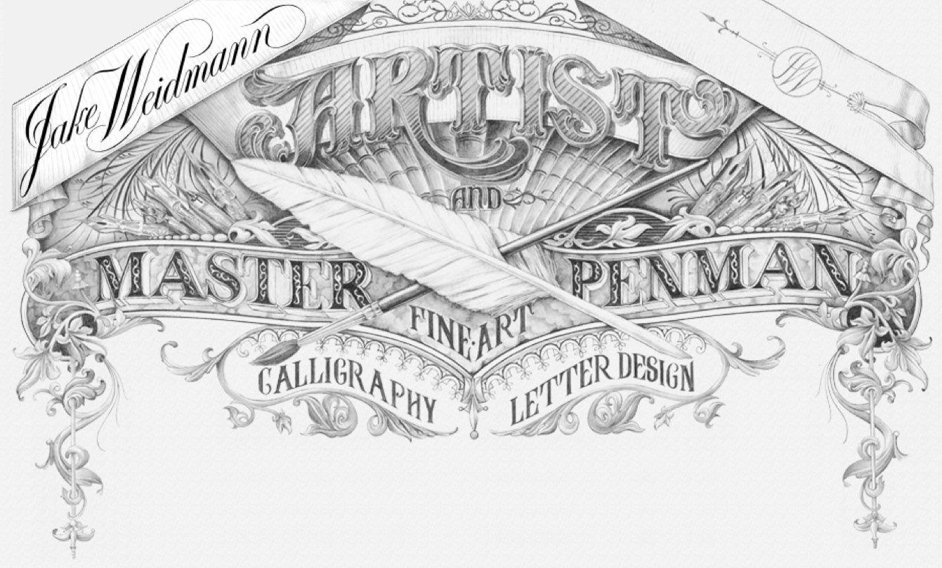 Jake weidmann artist master penman fine art