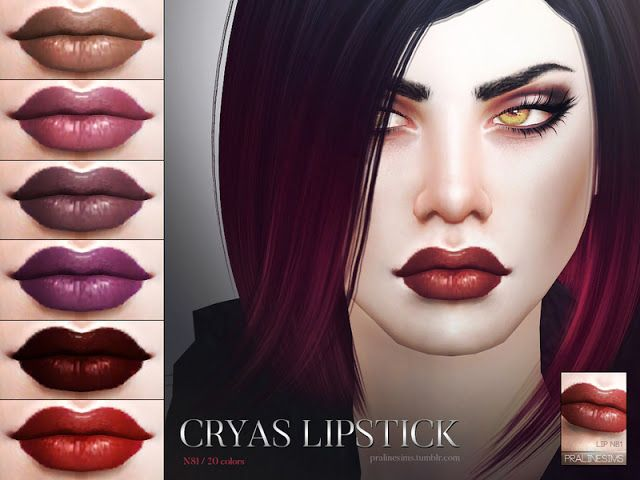 Sims 4 CC's - The Best: Lipstick & Eyes by Pralinesims