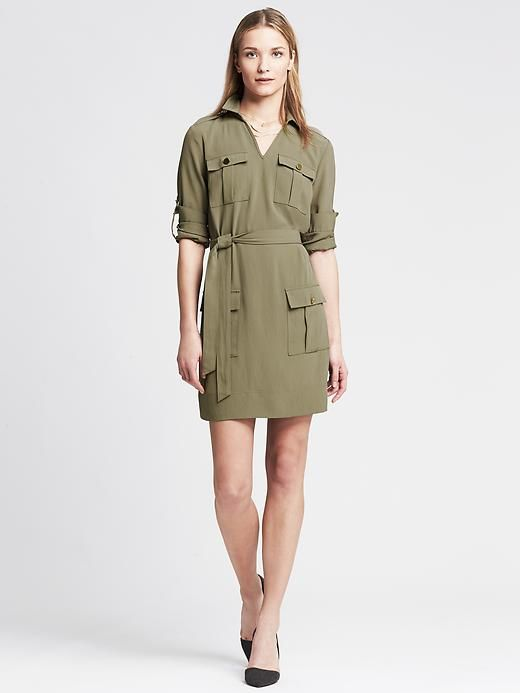 7d457fe1bf2 Heritage Twill Utility Dress Product Image