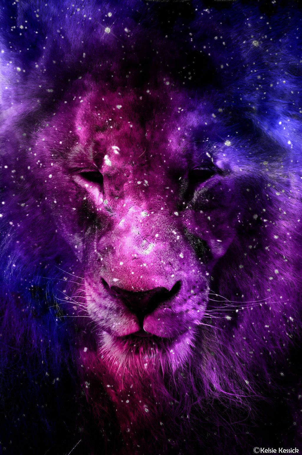Galaxy Lion By Kmkessick On Deviantart Lion Art Lion Artwork Lion Pictures