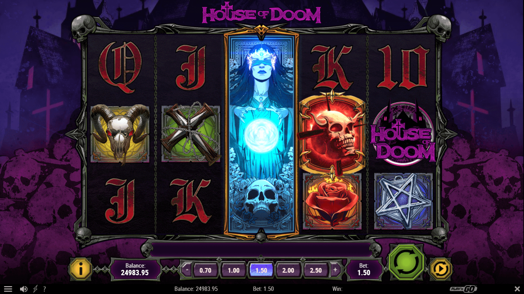 House of Doom powered by Play'n GO This Halloween-themed slot game