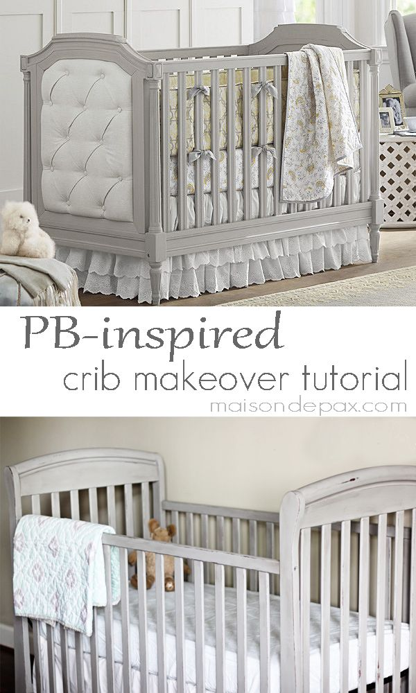 Gorgeous Gray Crib Makeover Crib makeover, Pottery barn style - ideen ordnungssysteme hause pottery barn