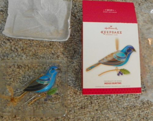 HALLMARK-KOC-INDIGO-BUNTING-Beauty-of-the-Birds-Series-Repaint-2013-MIB-UNSigned