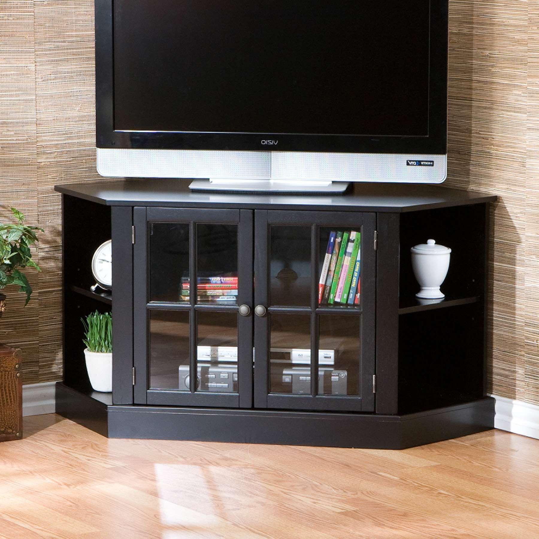 Luxury And Simple Black Tv Unit With Glass Doors In 2020 Eck Tv Schrank Haus Tv Schrank