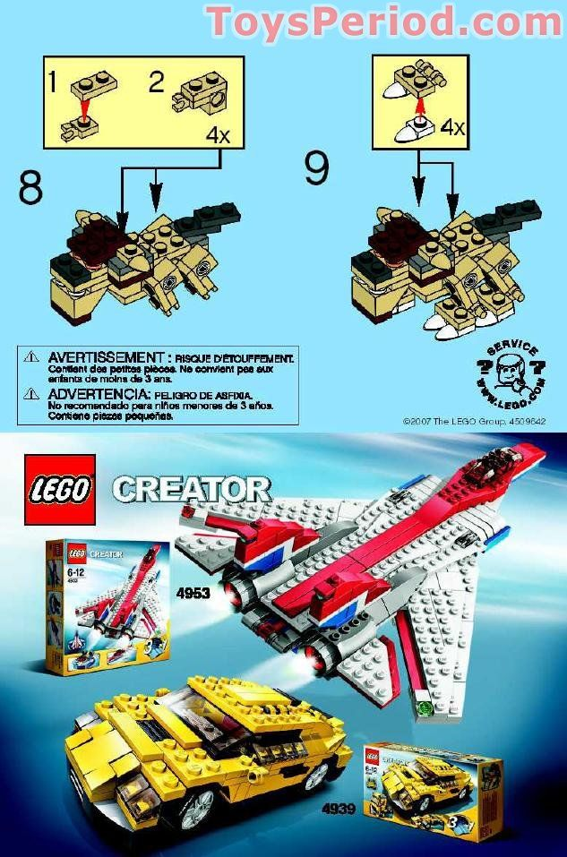 Lego 7872 Creature Set Parts Inventory And Instructions Lego