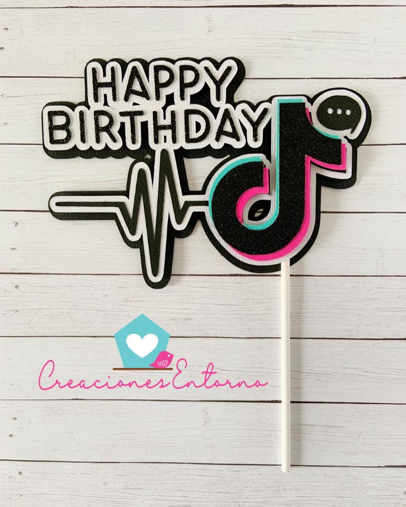 Tik Tok Cake Topper El Tema Del Momento Cake Toppe Cuadro De Cumpleanos Fiestas De Cumpleanos Para Adolescentes Decoraciones Sencillas Para Cumpleanos