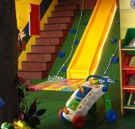 whaaaaat? a slide/climbing wall
