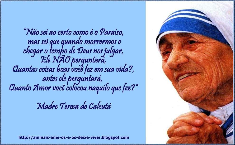 Madre Teresa De Calcutá Madre Teresa De Calcutá Frase Madre