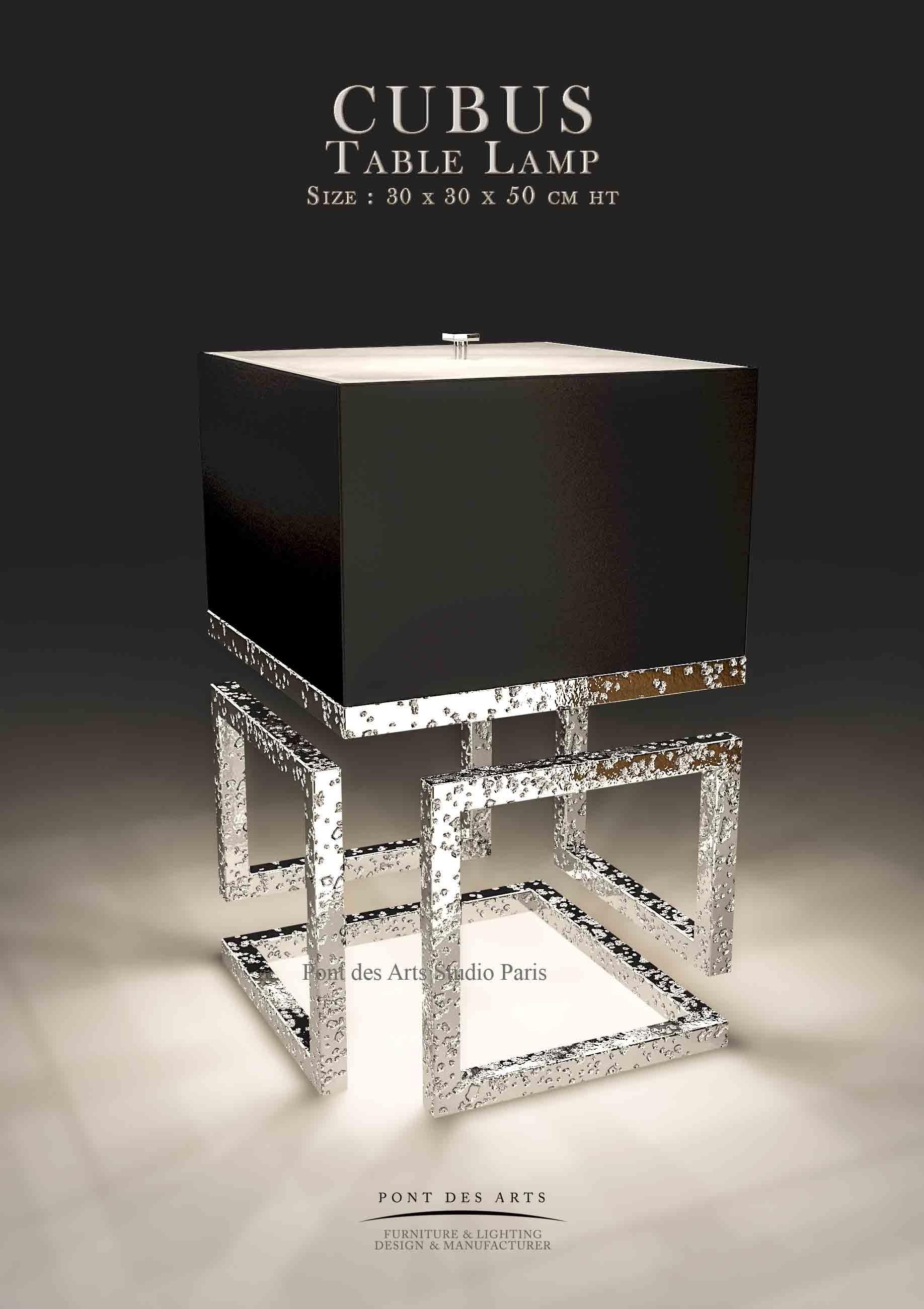 Cubustable Lamp Designer Monzer Hammoud Pont Des Arts Studio