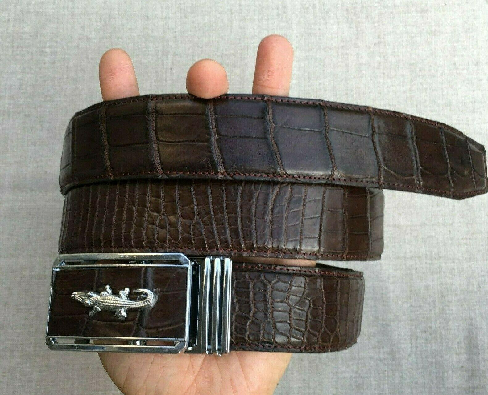 Handmade Genuine Crocodile Skin Leather NO JOINTED Belt