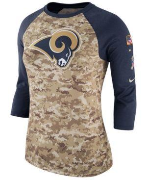 cfac4987 Nike Women's Los Angeles Rams Salute To Service Three-Quarter Raglan ...