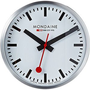 Mondaine Railway Wall Clock