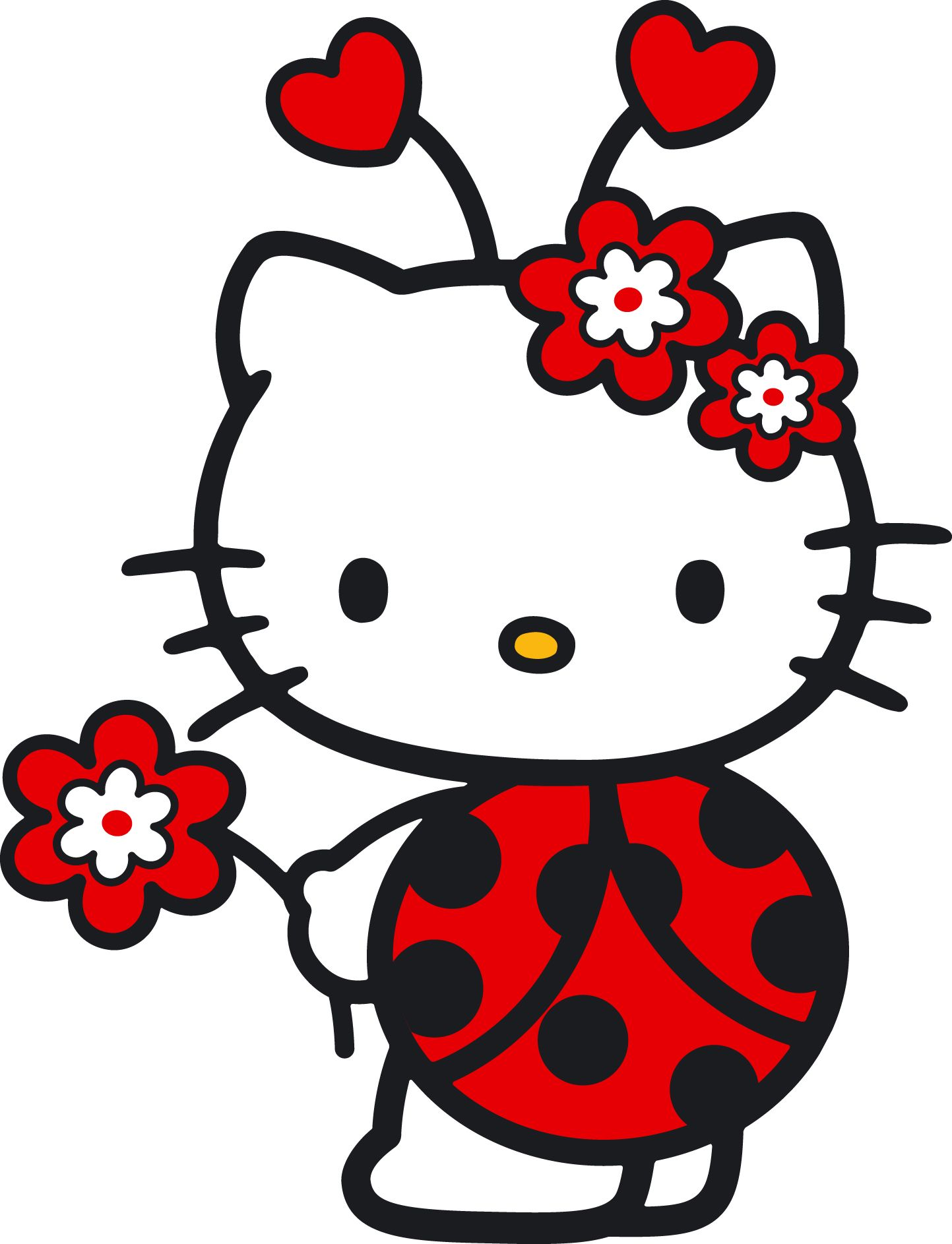 7 Hello Kitty Bügelbilder Transferbilder. Für HELLE UND DUNKLE ...
