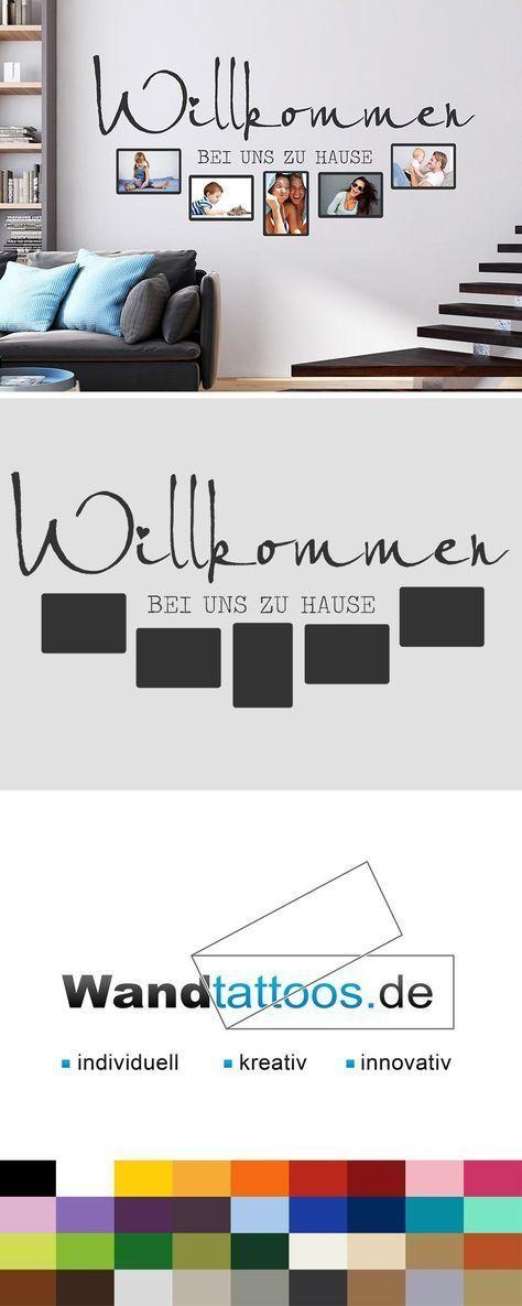 Wandtattoo Fotorahmen Willkommen Bei Uns Wandtattoos De Fotorahmen Gerahmte Wand Wandtattoo