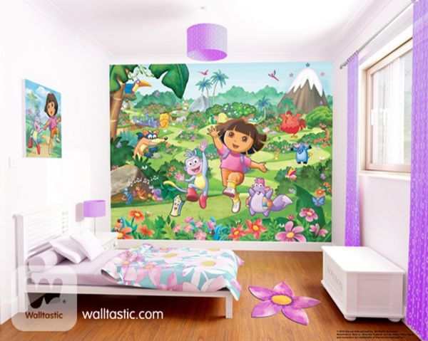 Walltastic Dora the Explorer. Roomset shown in same or different colourway.