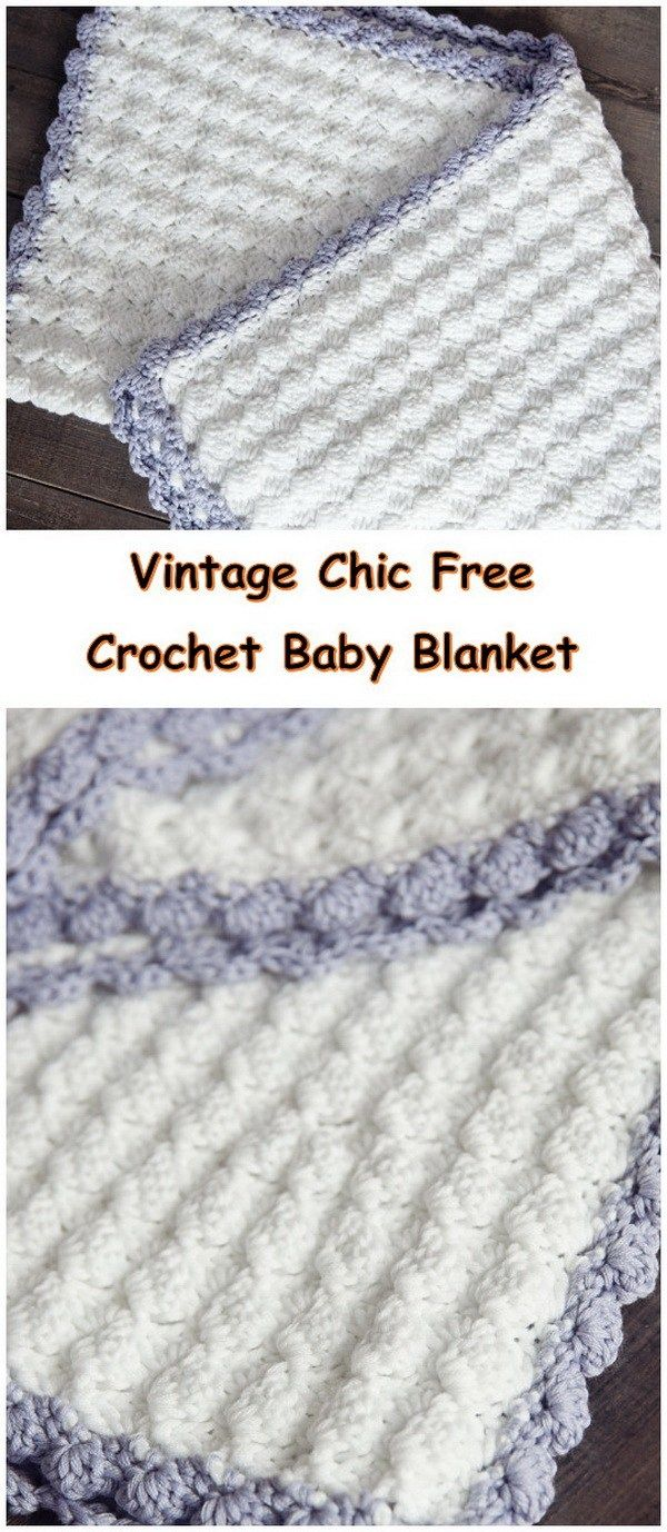 35+ Free Crochet Blanket Patterns & Tutorials | Manta, Mantita bebe ...