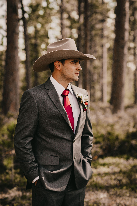 Pin By Summer Simianer On My Wedding Cowboy Wedding Attire Wedding Suits Men Grey Country Groom Attire