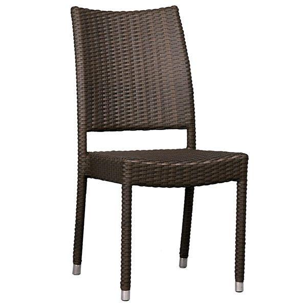 Simple Brown Synthetic Rattan Chair Chair Rattan Armchair Rattan Chair