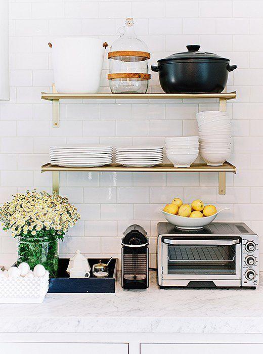 Love a good styled kitchen shelfie clean organized pinterest 5 chic organization tips for pint size kitchens workwithnaturefo
