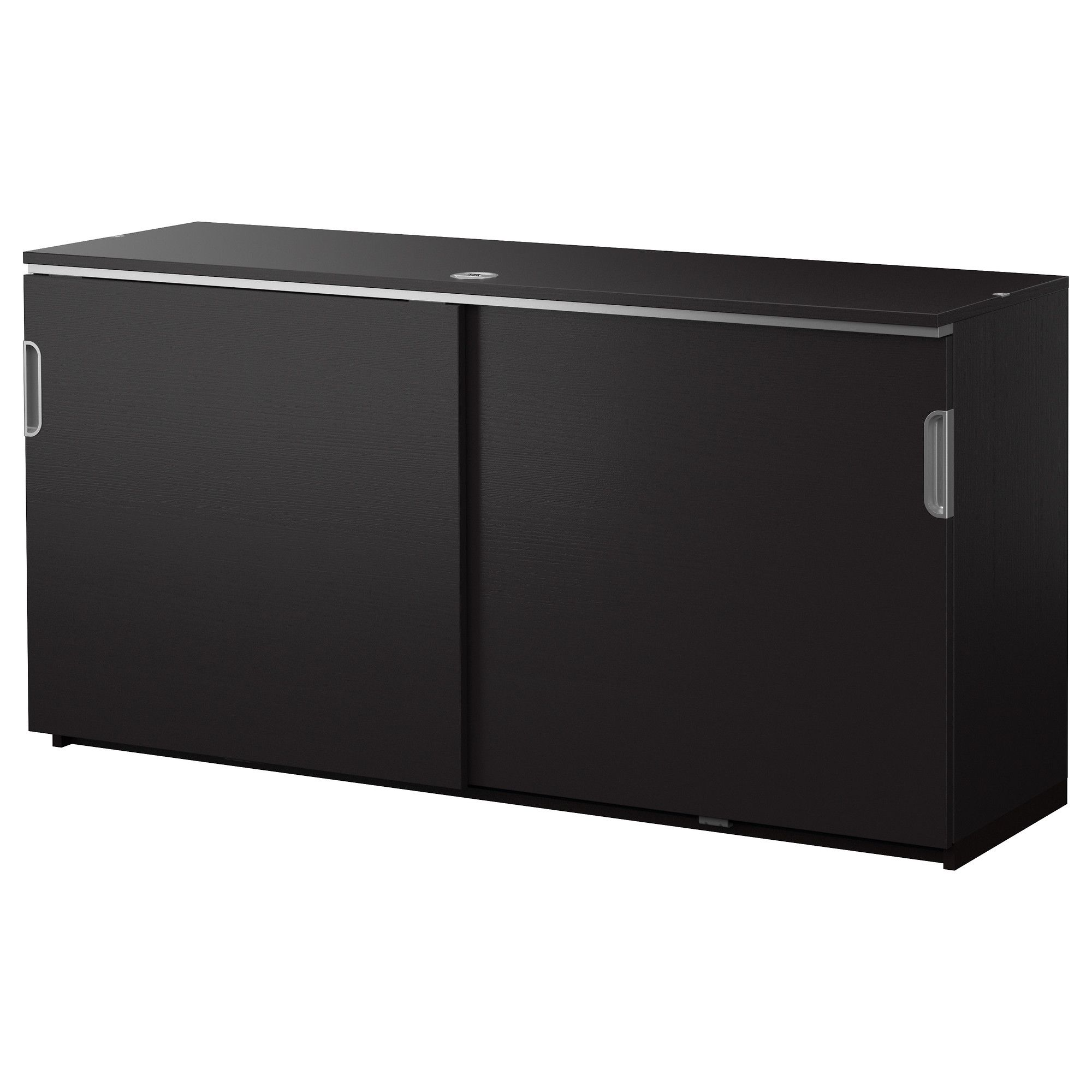 IKEA   GALANT, Cabinet With Sliding Doors, Black Brown , Limited Warranty.  Read About The Terms In The Limited Warranty Brochure.The Storage Unit  Stands ...