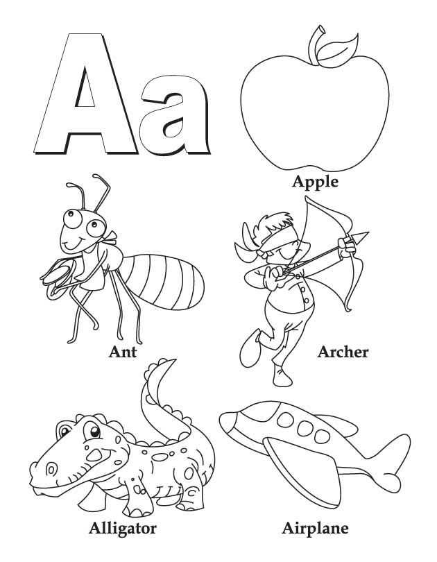 My A To Z Coloring Book Letter A Coloring Page Alphabet Coloring