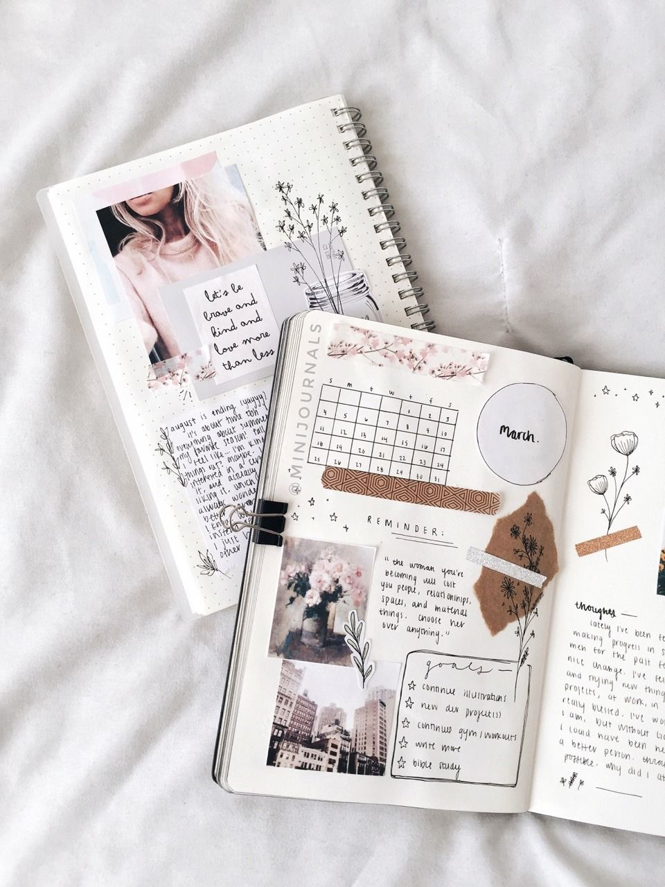 Https Gloomstudy Tumblr Com Post 181570207163 Mini Journals Spring Is Almost Here Bullet Journal Aesthetic Mini Journal Journal Aesthetic