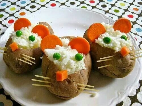 How to get the little ones to eat their baked potato? Make them fun!