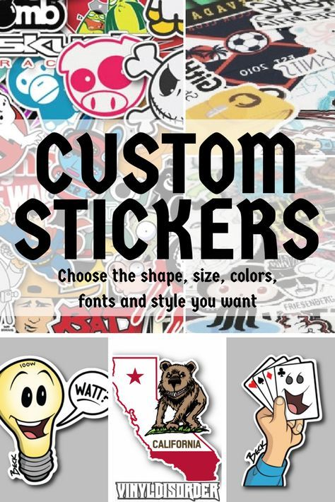 Make your design dreams come to life with our custom sticker services
