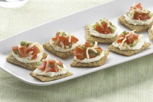 Triscuit bruschetta bites recipe kraft recipes food recipes triscuit bruschetta bites recipe kraft recipes forumfinder Images