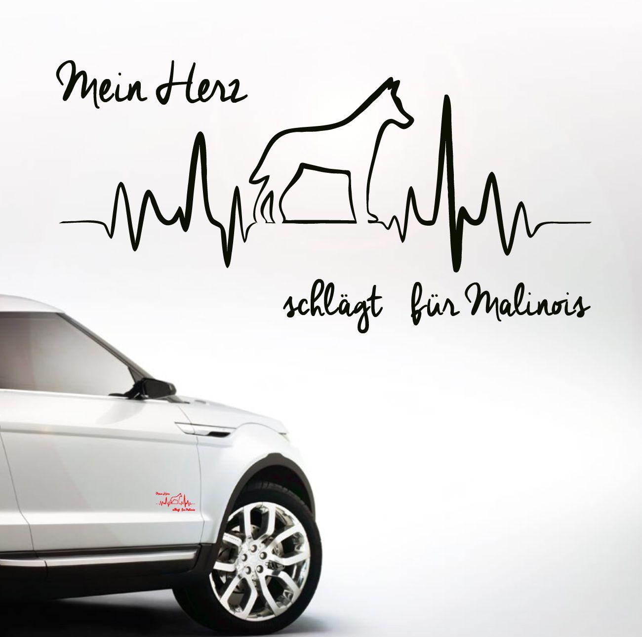 Auto Aufkleber HEARTBEAT MALINOIS | Malinois | Hunderassen sortiert | Tierisch…