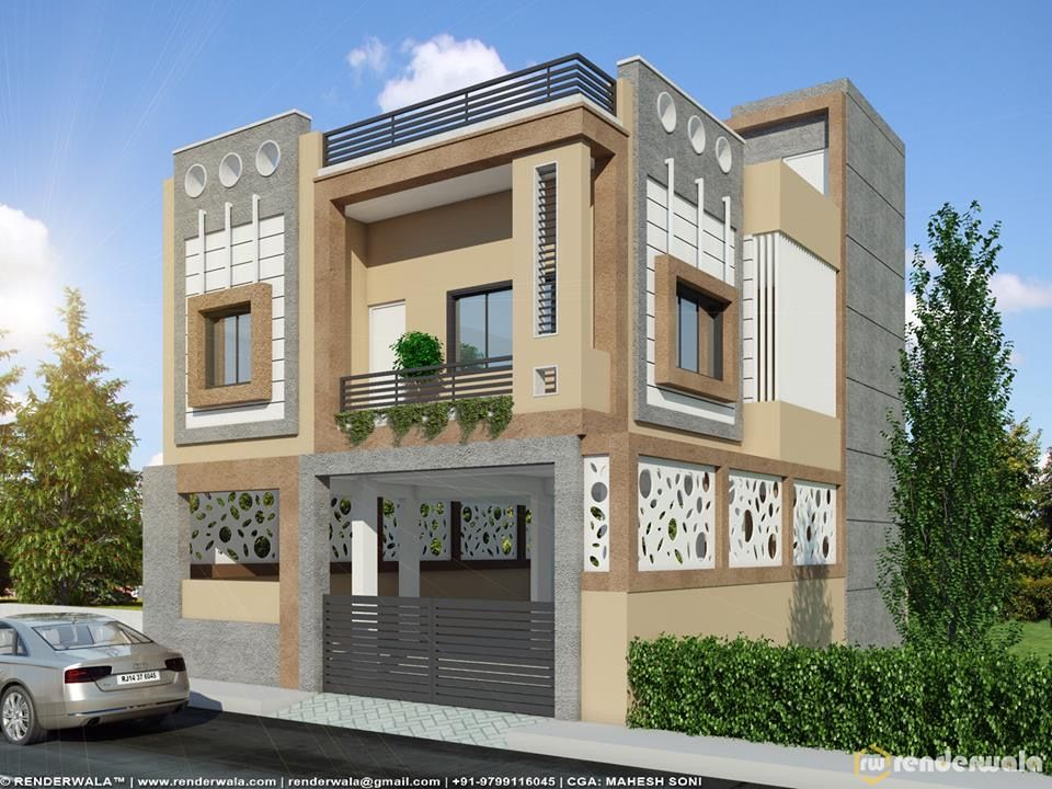 Two floors house building elevation front designs viewing also marla in rh pinterest