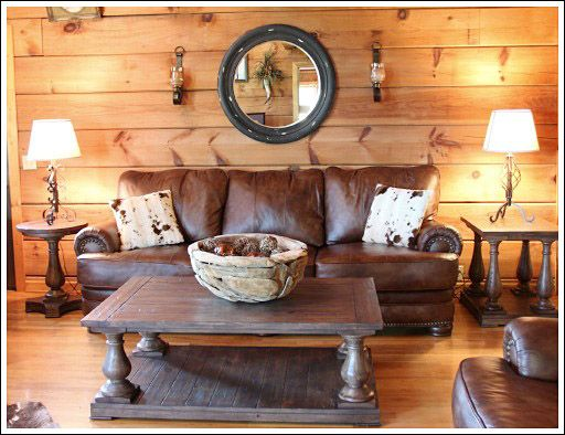 Log Cabin Living Room - Before and After Photos | Home | Log home ...