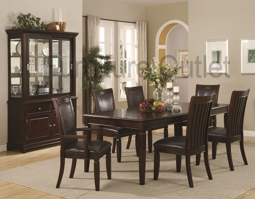 Furniture Outlet Dining Table Set Formal Server Buffet Hutch