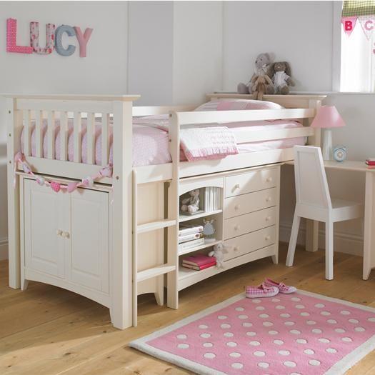 Best Luxury Kids Cabin Bed In Cream Bun Other Colours 400 x 300