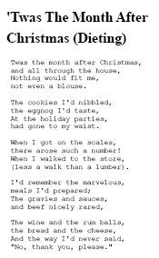 Twas The Month After Christmas - Dieting Poem | Christmas Help ...