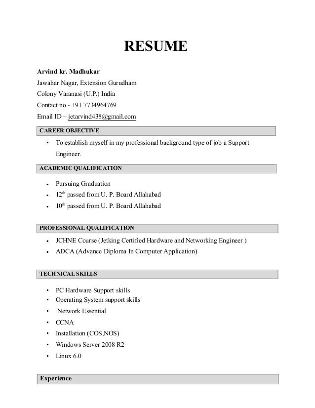 how prepare resume for how make resume for