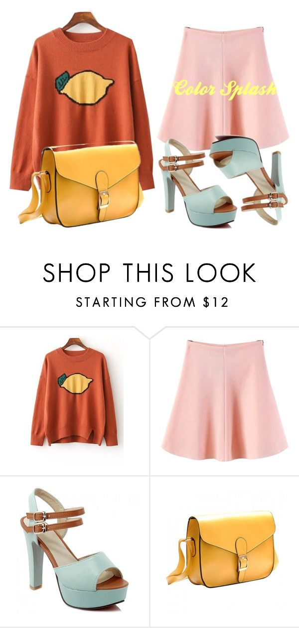 """""""Color Splash"""" by fabulousdumpling ❤ liked on Polyvore featuring WithChic, yellow and Color"""