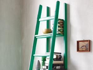ideen zum selbermachen leiterregal selber bauen von der leiter zum regal diy pinterest. Black Bedroom Furniture Sets. Home Design Ideas