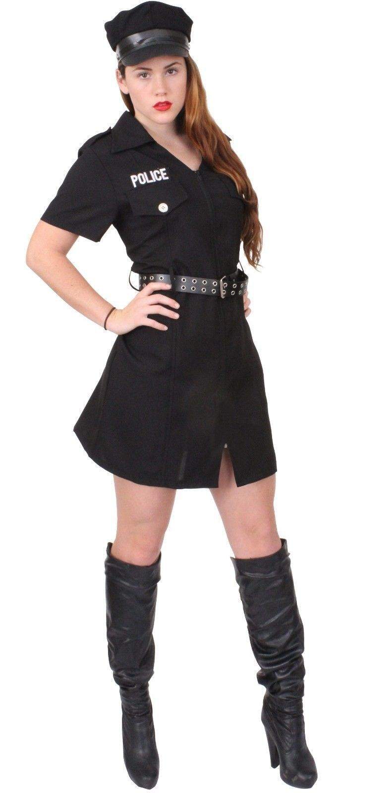 Womens Police Costume - Girls Officer Outfit - Halloween, Dress Up ...