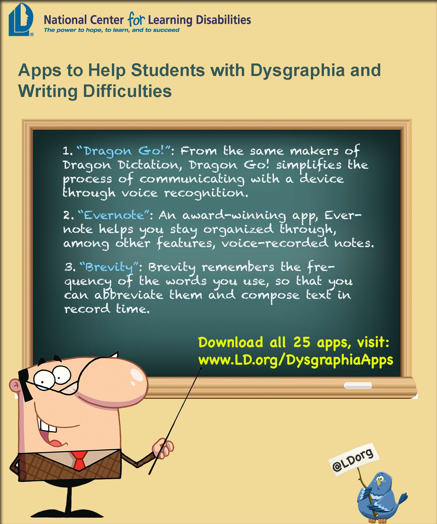 Apps to help adults, teens, and children with Dysgraphia. www.LD ...
