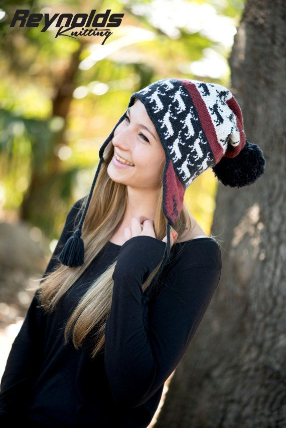 PDF Knitting Pattern - Stag Animal Chullo Earflap Hat - Winter ...