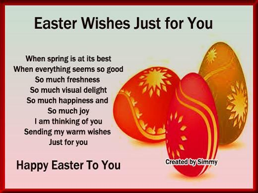 Easter Love Messages – Easter Messages for Cards