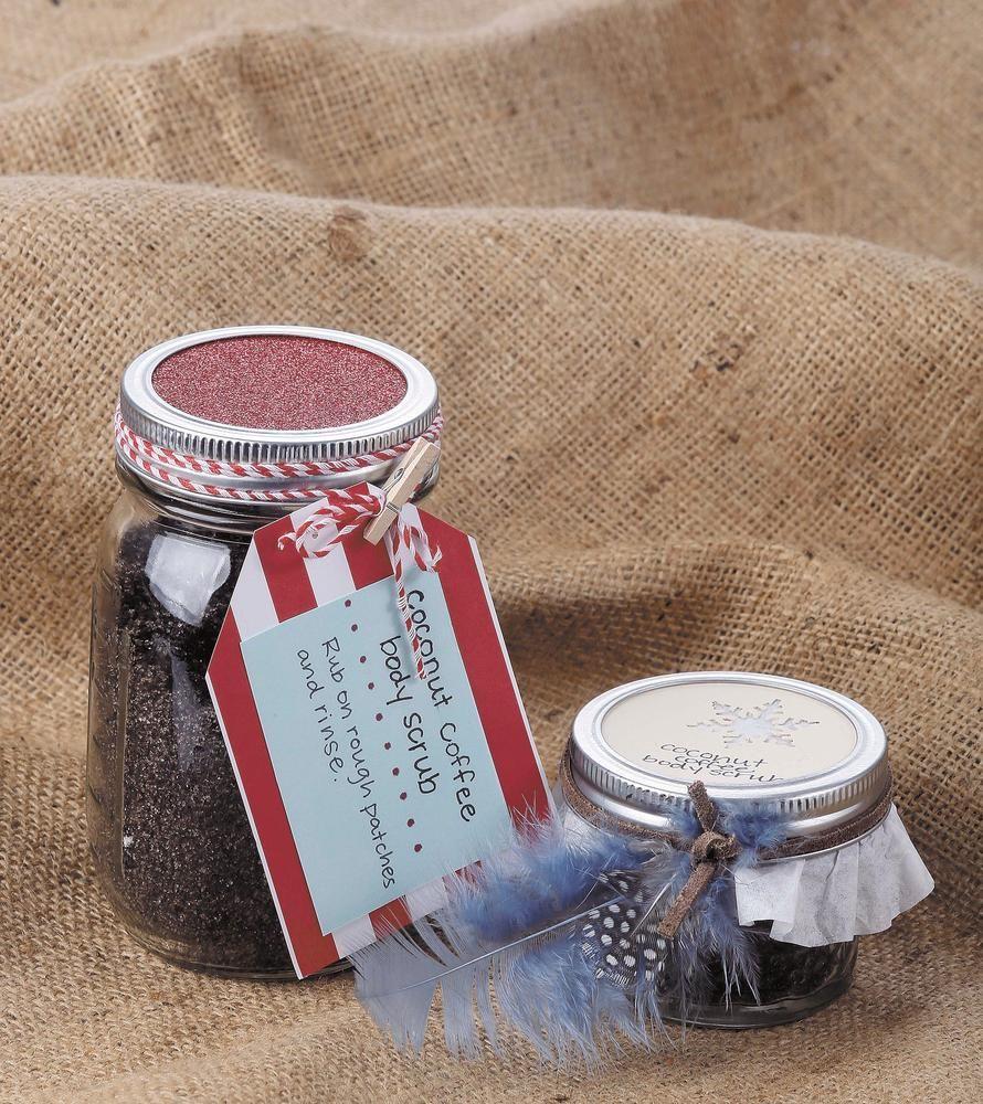Coconut coffee body scrub homemade gifts coffee body