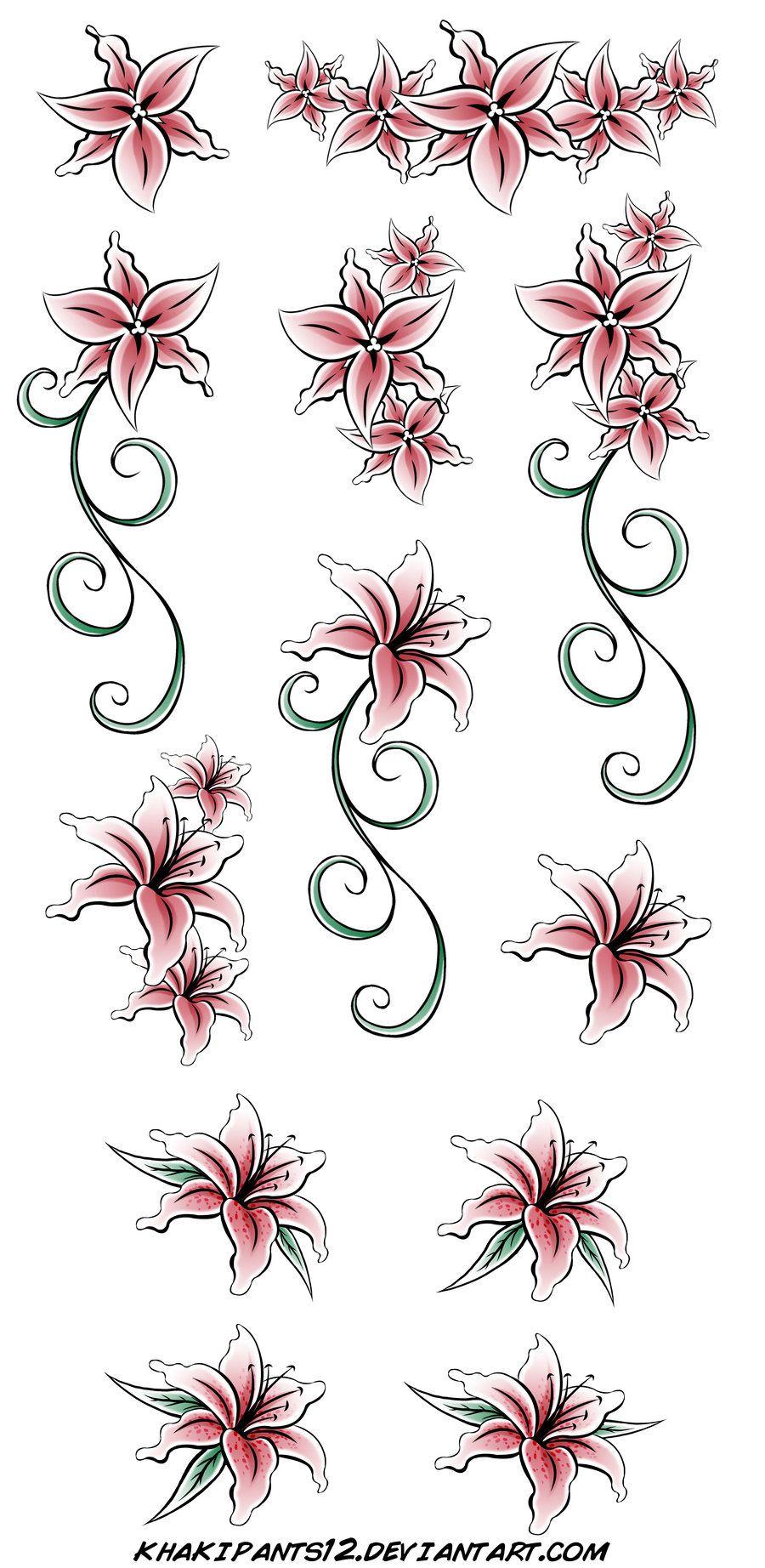 Stargazer Lily Flower Tattoo Designs: Lily Tattoo Design, Lily Flower