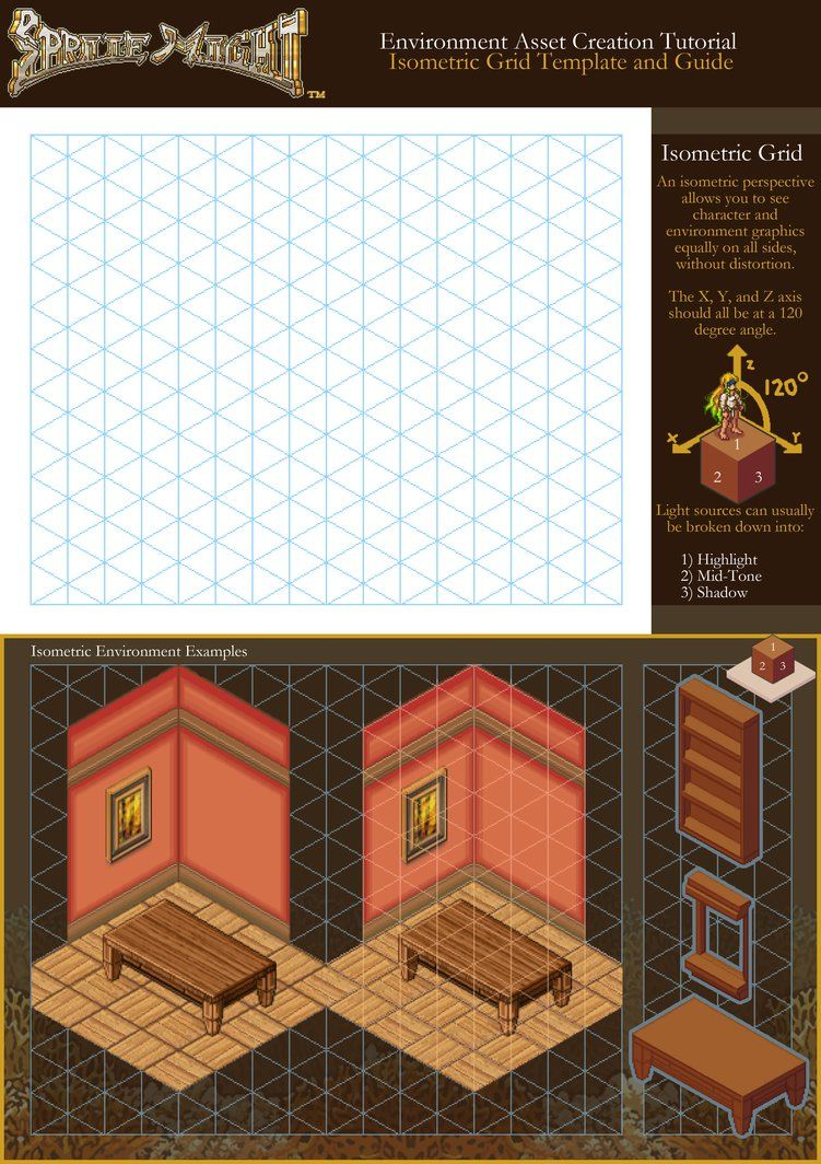 Sprite Might Isometric Grid Template and Guide | Sprite