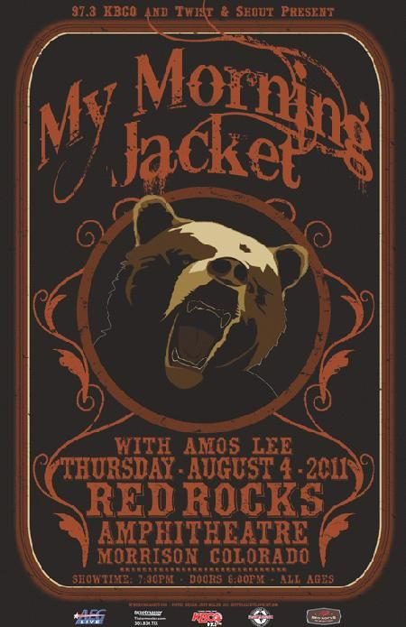 my morning jacket band poster | ... Music Posters - Memorabilia, Concert Poster, Silkscreen, Poster Art